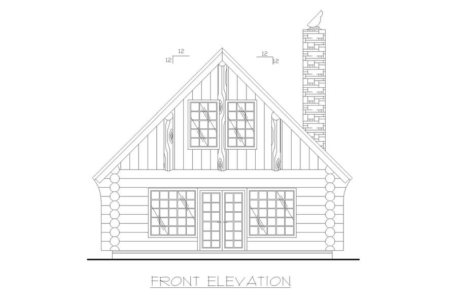 Home Plan Front Elevation of this 1-Bedroom,1040 Sq Ft Plan -132-1271