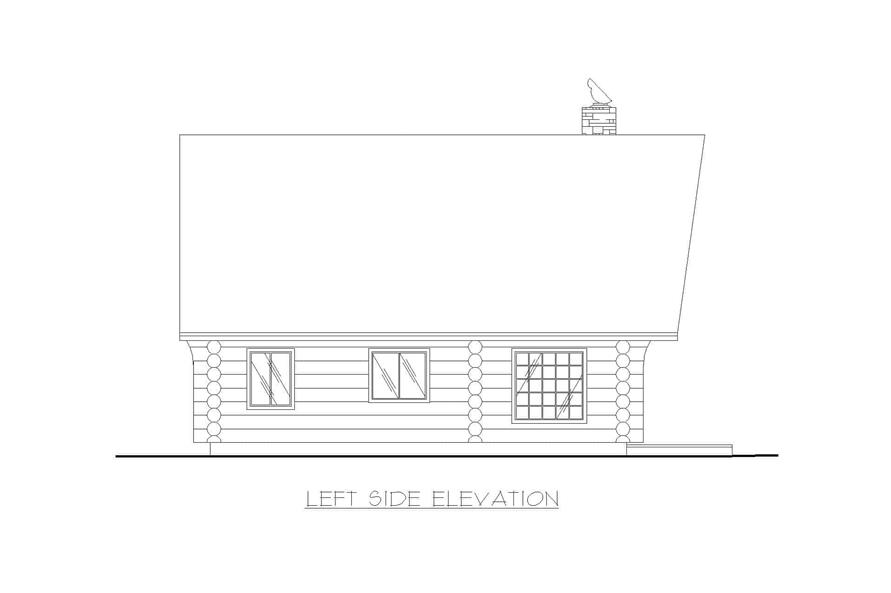 Home Plan Left Elevation of this 1-Bedroom,1040 Sq Ft Plan -132-1271