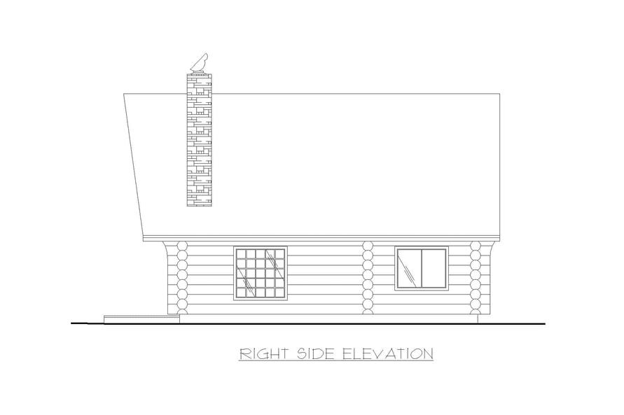 Home Plan Right Elevation of this 1-Bedroom,1040 Sq Ft Plan -132-1271