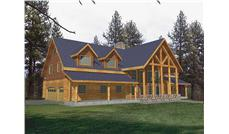 Main image for Log Cabin house plan # 9251