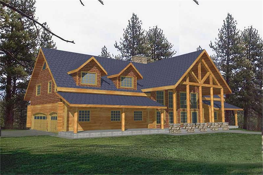 Main image for Log Cabin house plan # 9251