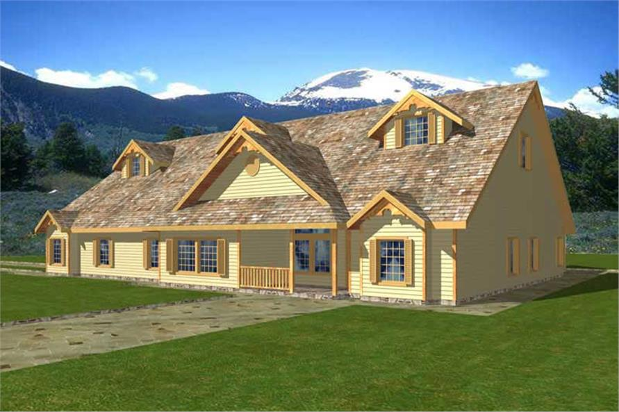 15-Bedroom, 5997 Sq Ft Multi-Unit House Plan - 132-1274 - Front Exterior