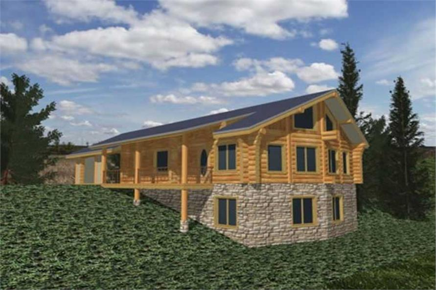 Main image for Log Cabin house plans # 9244