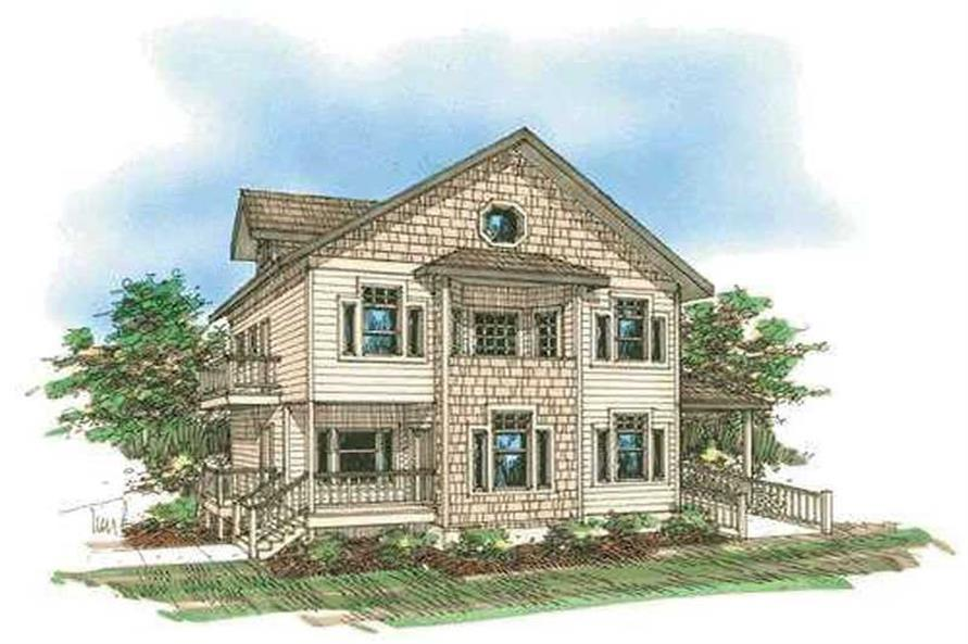 3-Bedroom, 2918 Sq Ft Concrete Block/ ICF Design House Plan - 132-1278 - Front Exterior