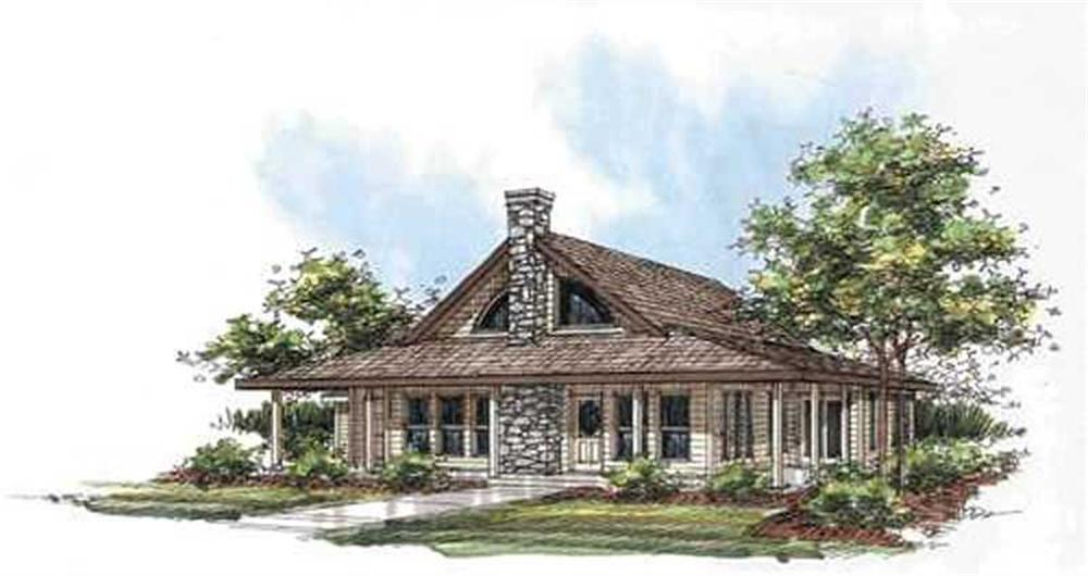 Front elevation of Concrete Block/ ICF Design home (ThePlanCollection: House Plan #132-1279)