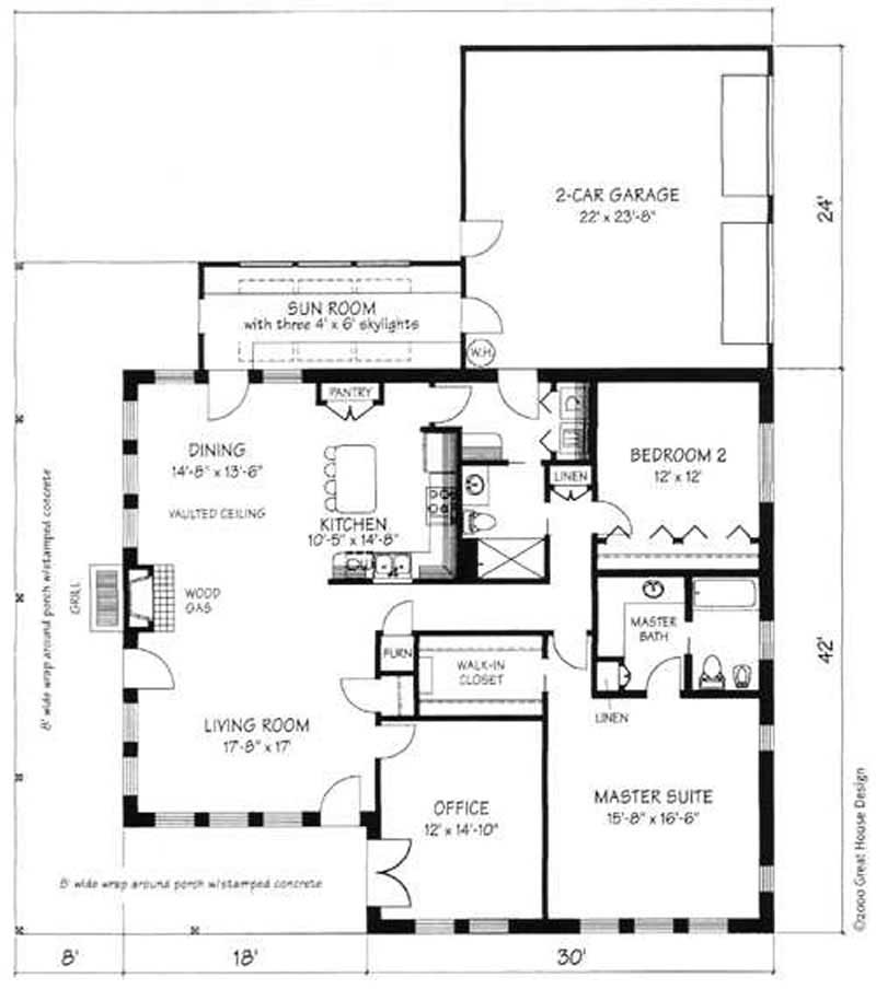 Concrete block icf design country house plans home for Cement block house plans