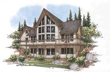 2-Bedroom, 3820 Sq Ft Concrete Block/ ICF Design House Plan - 132-1280 - Front Exterior
