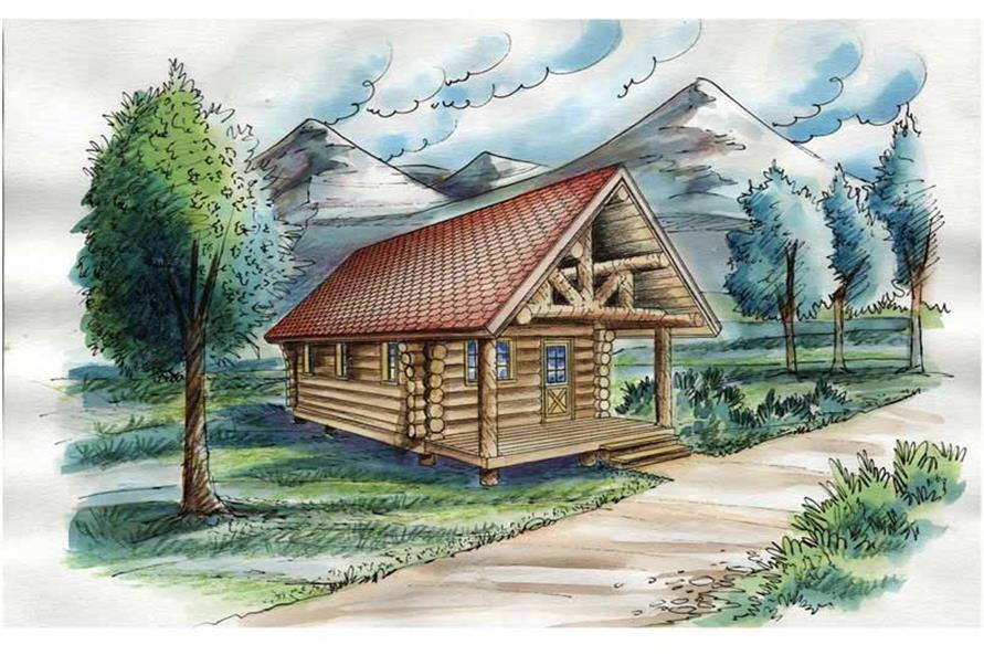 1-Bedroom, 595 Sq Ft Ranch House Plan - 132-1281 - Front Exterior