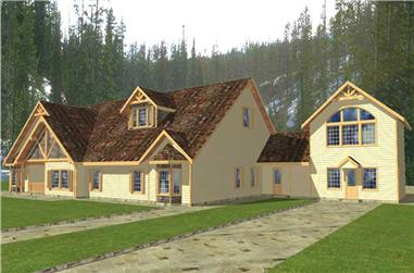 10-Bedroom, 7158 Sq Ft Luxury House Plan - 132-1283 - Front Exterior