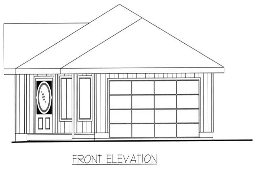 Home Plan Front Elevation of this 2-Bedroom,1562 Sq Ft Plan -132-1288