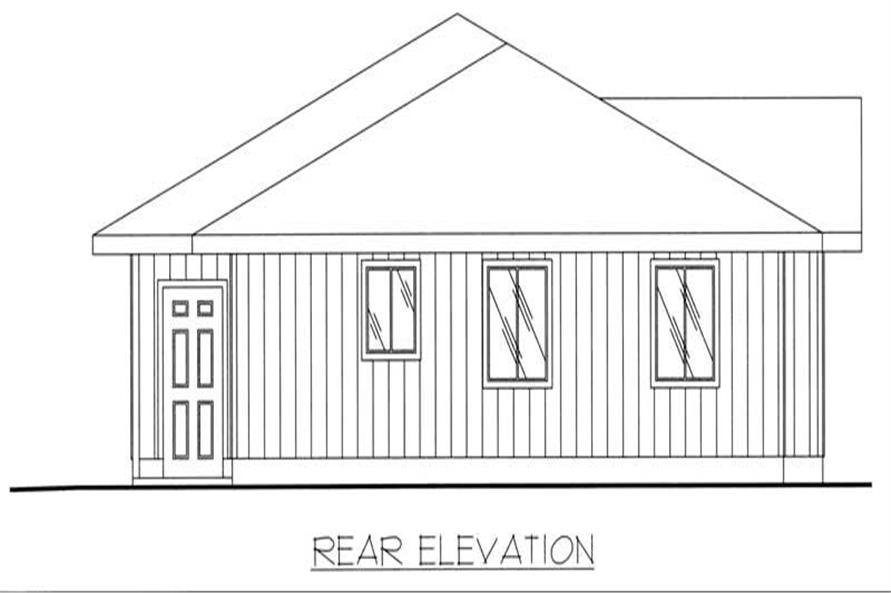 Home Plan Rear Elevation of this 2-Bedroom,1562 Sq Ft Plan -132-1288