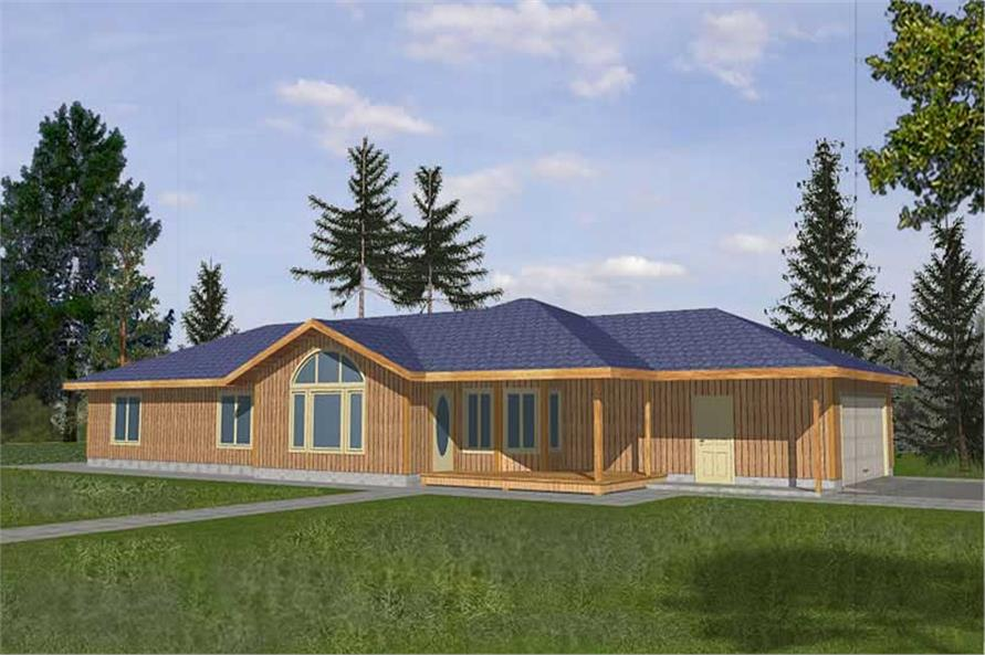 2-Bedroom, 1562 Sq Ft Country Home Plan - 132-1288 - Main Exterior