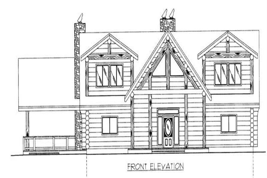 Home Plan Front Elevation of this 4-Bedroom,4564 Sq Ft Plan -132-1291