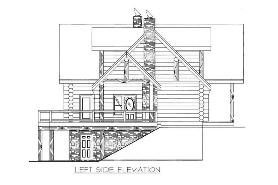 Home Plan Left Elevation of this 4-Bedroom,4565 Sq Ft Plan -132-1291