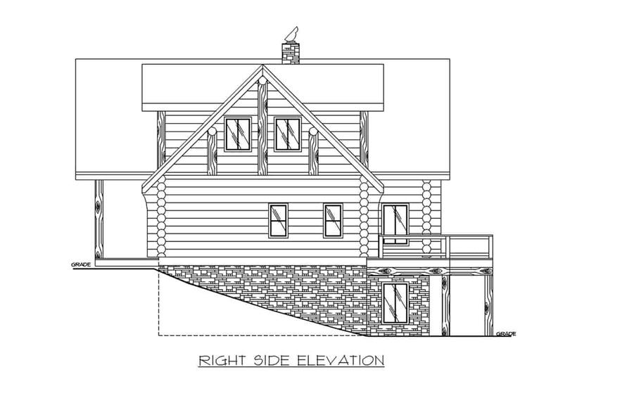 Home Plan Right Elevation of this 4-Bedroom,4565 Sq Ft Plan -132-1291