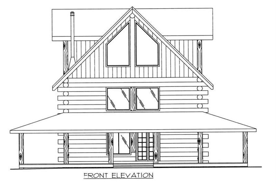 Home Plan Front Elevation of this 4-Bedroom,2042 Sq Ft Plan -132-1292