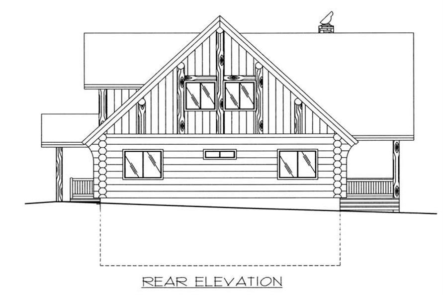 Home Plan Rear Elevation of this 4-Bedroom,3725 Sq Ft Plan -132-1293