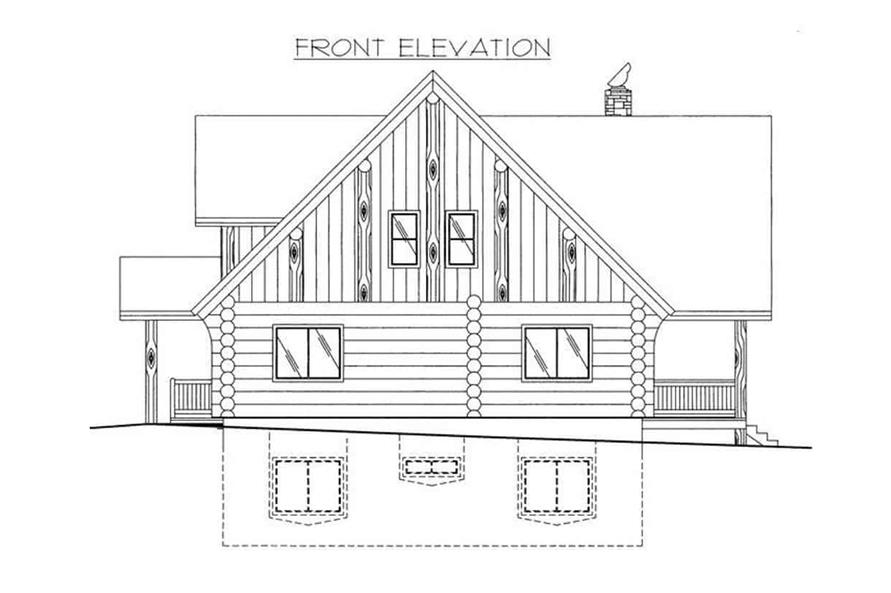 Home Plan Front Elevation of this 4-Bedroom,3725 Sq Ft Plan -132-1293