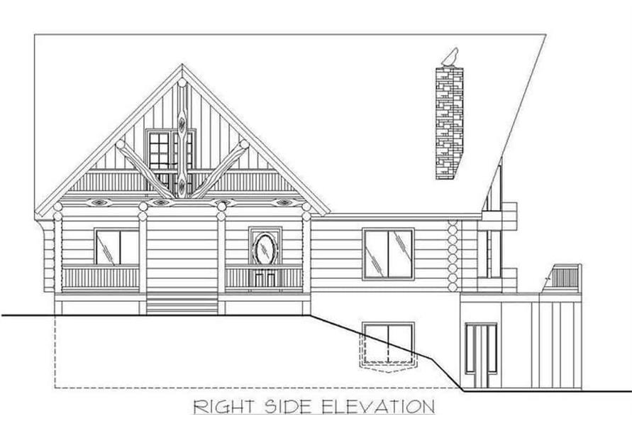 Home Plan Right Elevation of this 4-Bedroom,3725 Sq Ft Plan -132-1293