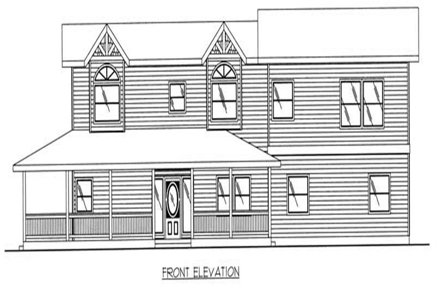 Home Plan Front Elevation of this 3-Bedroom,3429 Sq Ft Plan -132-1297