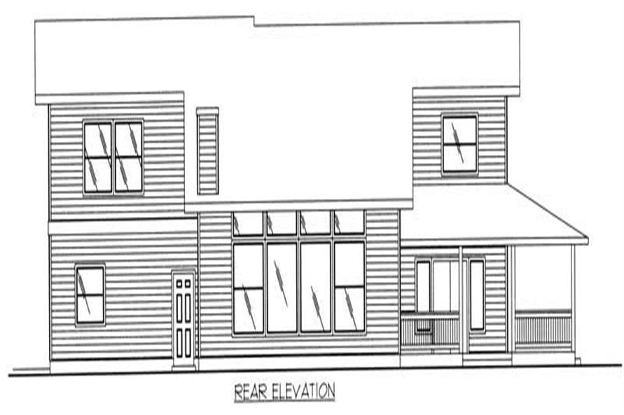 Home Plan Rear Elevation of this 3-Bedroom,3429 Sq Ft Plan -132-1297