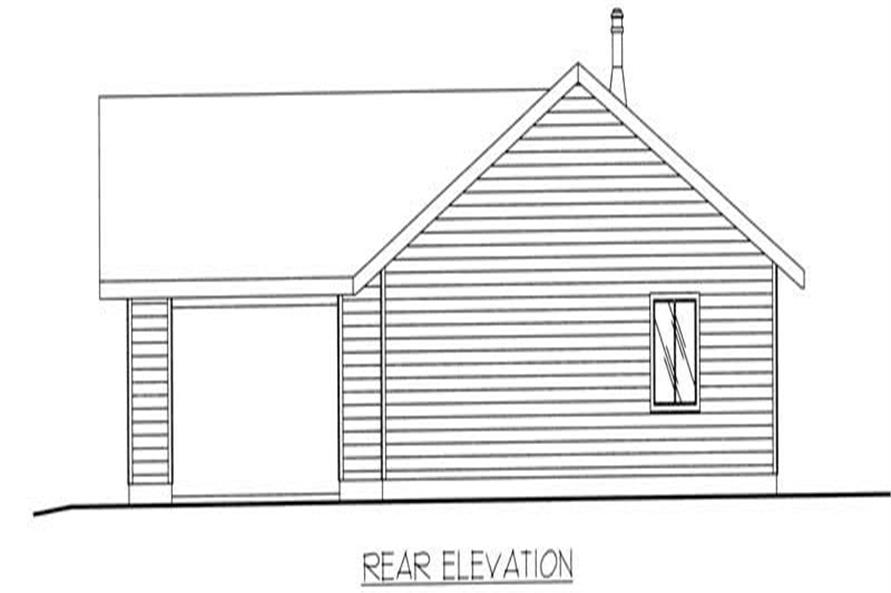 Home Plan Rear Elevation of this 3-Bedroom,1428 Sq Ft Plan -132-1301