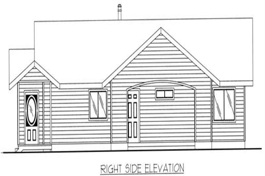 Home Plan Right Elevation of this 3-Bedroom,1428 Sq Ft Plan -132-1301