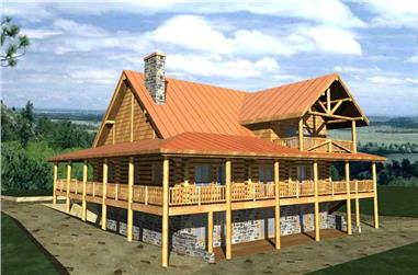 2-Bedroom, 2721 Sq Ft Country Home Plan - 132-1306 - Main Exterior