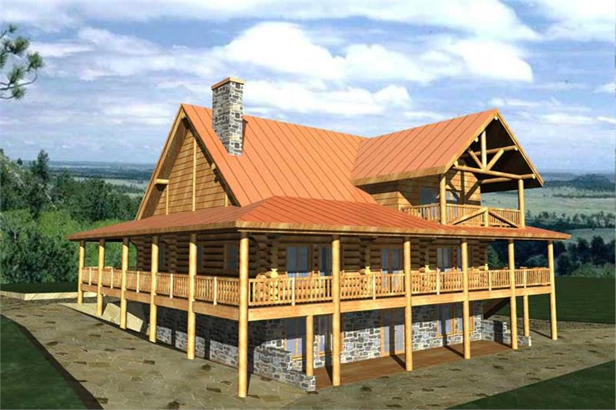 Main image for Log Home plans # 9206