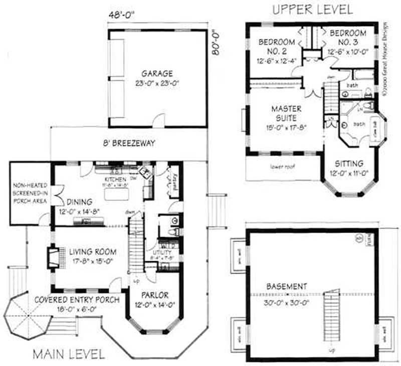 Small Concrete Block Home Plans: Victorian, Concrete Block/ ICF Design House Plans