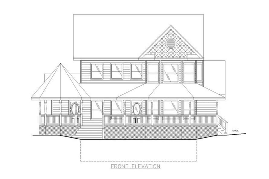 Home Plan Front Elevation of this 3-Bedroom,2312 Sq Ft Plan -132-1307