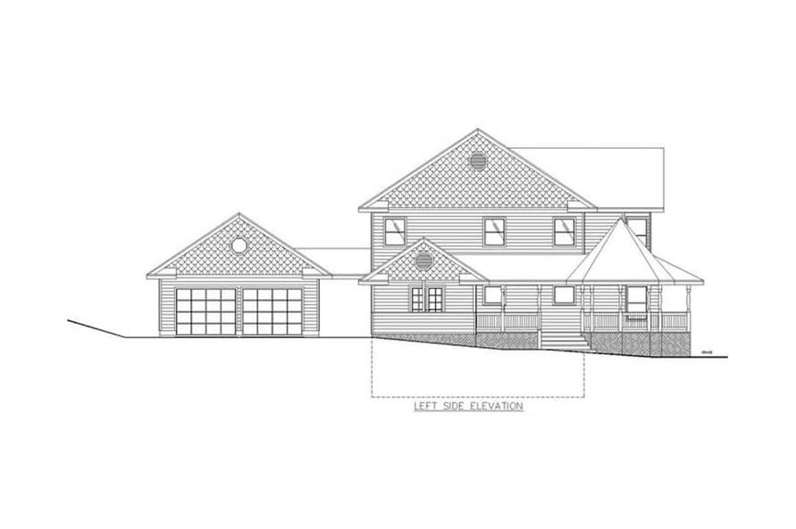Home Plan Left Elevation of this 3-Bedroom,2312 Sq Ft Plan -132-1307