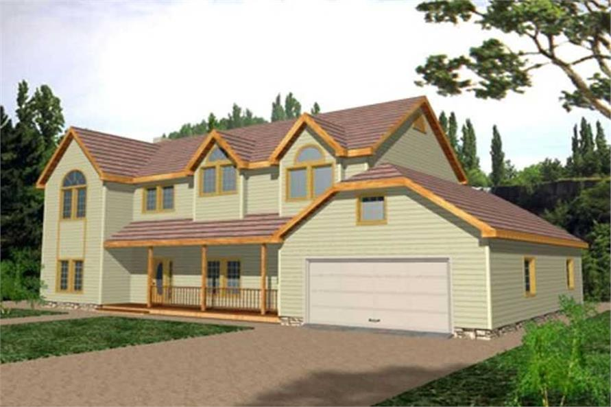 6-Bedroom, 2886 Sq Ft Concrete Block/ ICF Design House Plan - 132-1308 - Front Exterior