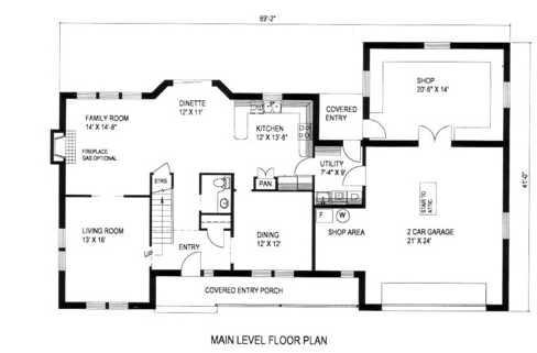132-1308: Floor Plan Main Level