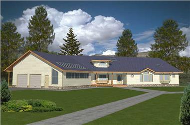 4-Bedroom, 3496 Sq Ft Concrete Block/ ICF Design House Plan - 132-1309 - Front Exterior