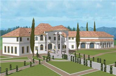 7-Bedroom, 18174 Sq Ft Contemporary House Plan - 132-1311 - Front Exterior