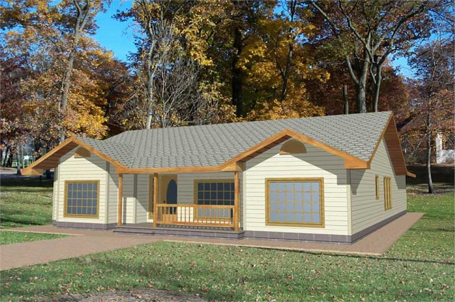 3-Bedroom, 1568 Sq Ft Ranch Home Plan - 132-1317 - Main Exterior
