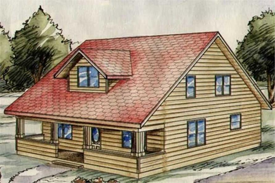 Home Plan Rear Elevation of this 3-Bedroom,1934 Sq Ft Plan -132-1318