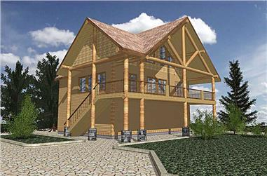 2-Bedroom, 1435 Sq Ft Vacation Homes Home Plan - 132-1322 - Main Exterior