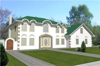 2-Bedroom, 2800 Sq Ft Contemporary Home Plan - 132-1323 - Main Exterior
