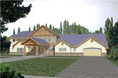 3-Bedroom, 5040 Sq Ft Craftsman Home Plan - 132-1324 - Main Exterior
