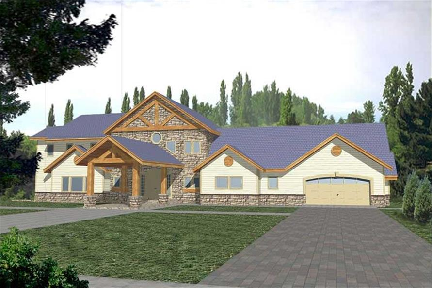 3-Bedroom, 5040 Sq Ft Craftsman Home Plan - 132-1324 - Main Exterior