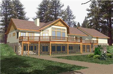 4-Bedroom, 4711 Sq Ft Craftsman Home Plan - 132-1325 - Main Exterior