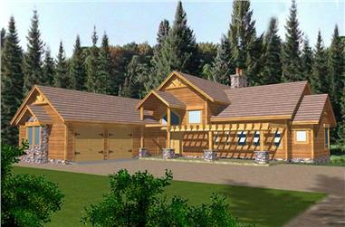 3-Bedroom, 2378 Sq Ft Contemporary Home Plan - 132-1327 - Main Exterior