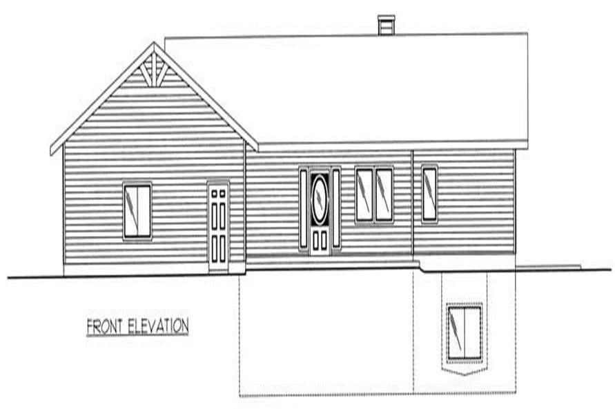 Home Plan Rear Elevation of this 2-Bedroom,2729 Sq Ft Plan -132-1329