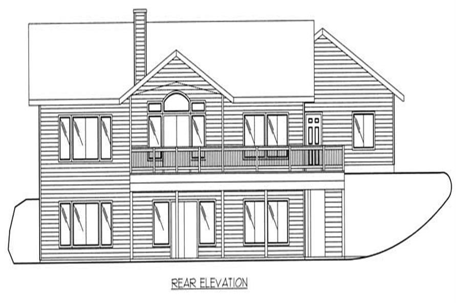 Home Plan Front Elevation of this 2-Bedroom,2729 Sq Ft Plan -132-1329