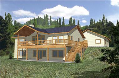 2-Bedroom, 2729 Sq Ft Ranch Home Plan - 132-1329 - Main Exterior
