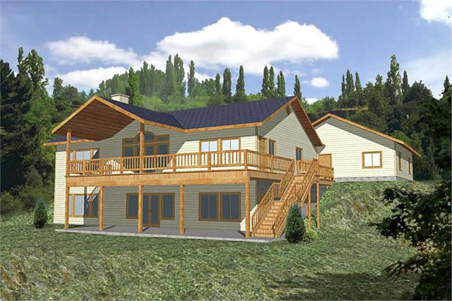 2-Bedroom, 2729 Sq Ft Ranch Home Plan - 132-1329 - Main Exterior