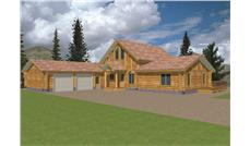 Main image for Log home plan # 9208