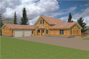 3-Bedroom, 2113 Sq Ft Cape Cod Home Plan - 132-1330 - Main Exterior